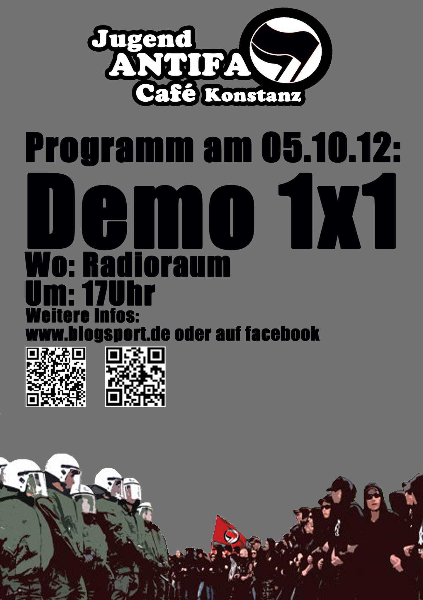 Programm für 05.Oktober: Demo 1x1